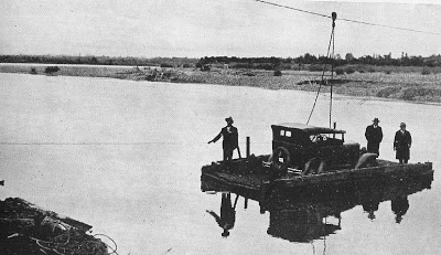 BALSA DEL RIO ITATA QUE SE USABA PARA IR A QUILLON 1930