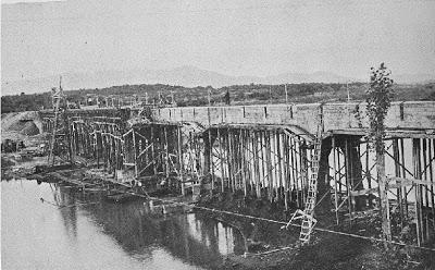CONSTRUCCION DEL PUENTE ITATA 1929,BULNES-QUILLON