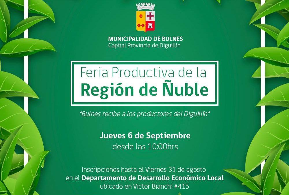 Todos invitados a la Gran Feria Productiva de la Región de Ñuble.