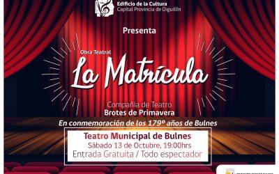 Anuncian obra de Teatro en el Edificio de la Cultura de Bulnes