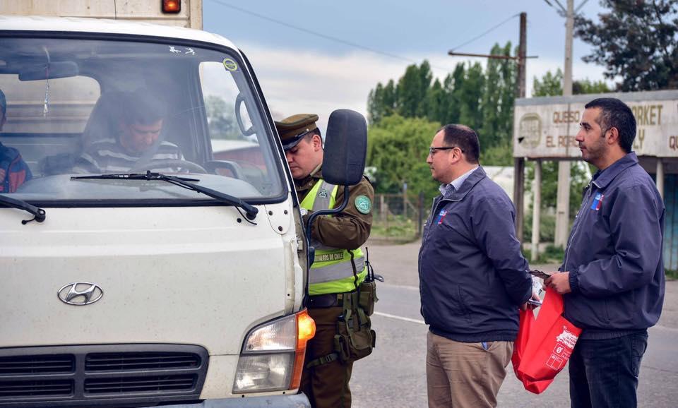 Intensa campaña en Bulnes para evitar accidentes en fin de semana largo