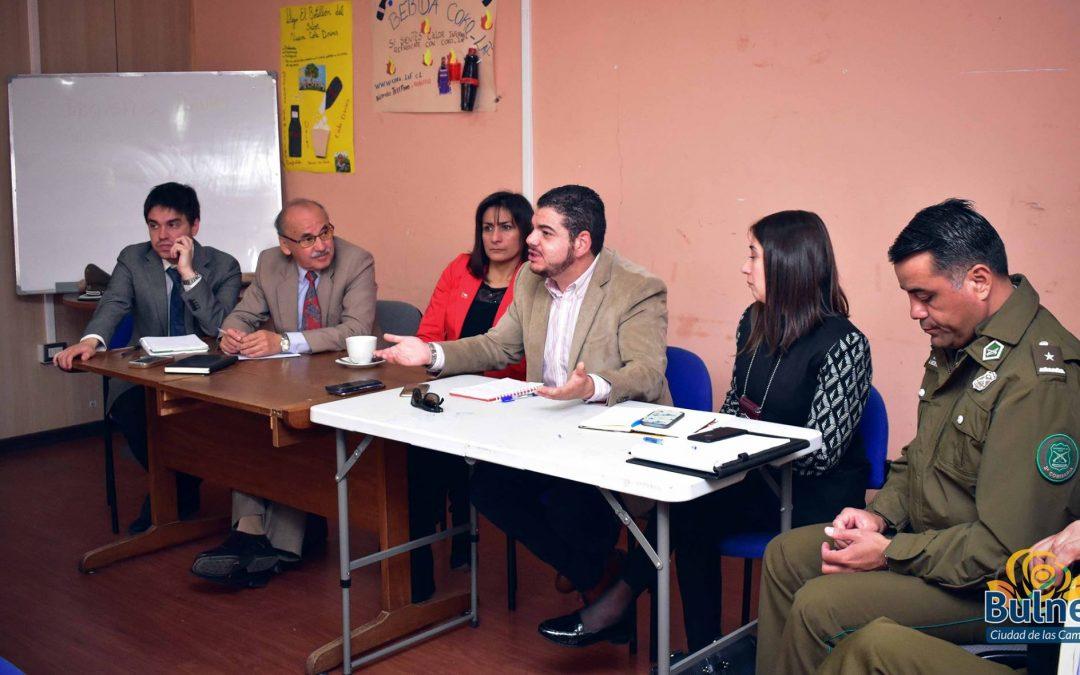 Asociatividad y prevención son clave para mejorar seguridad ciudadana en Bulnes