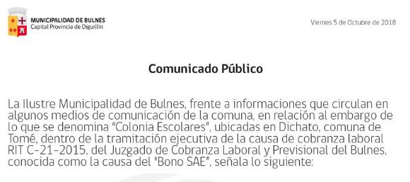 Comunicado Público