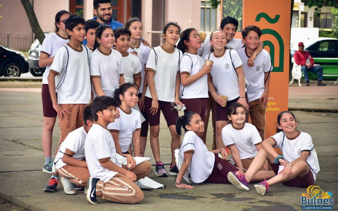 Multitudinaria Corrida escolar en Bulnes