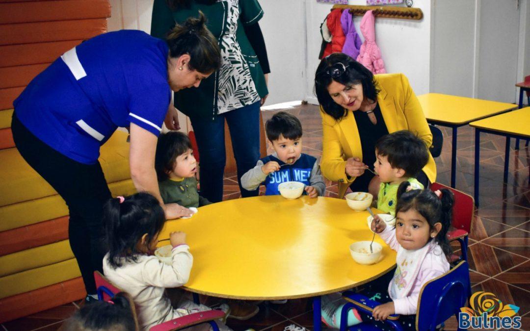 Extraordinario avance de millonarios jardines infantiles de Junji en Bulnes