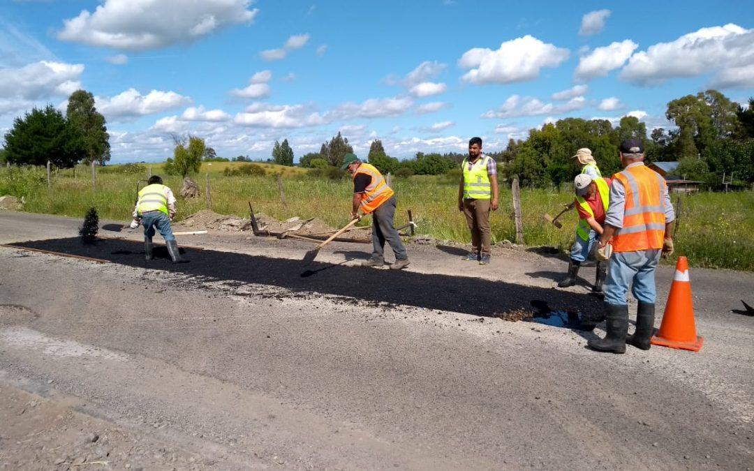 Arduo trabajo de Obras Municipales para mejorar caminos rurales de Bulnes