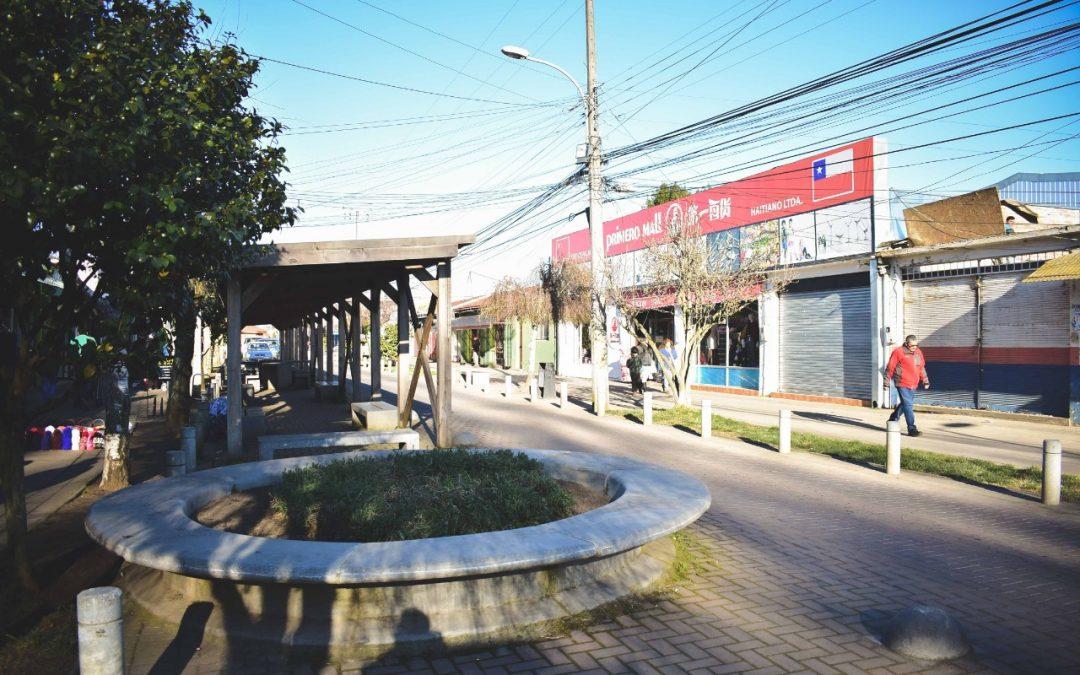 Municipio mejora el Paseo Peatonal de Bulnes que será exclusivo para las personas