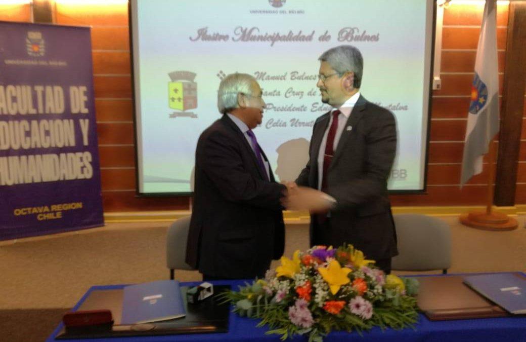 Bulnes firma valioso acuerdo de cooperación con la Universidad del Bio bío