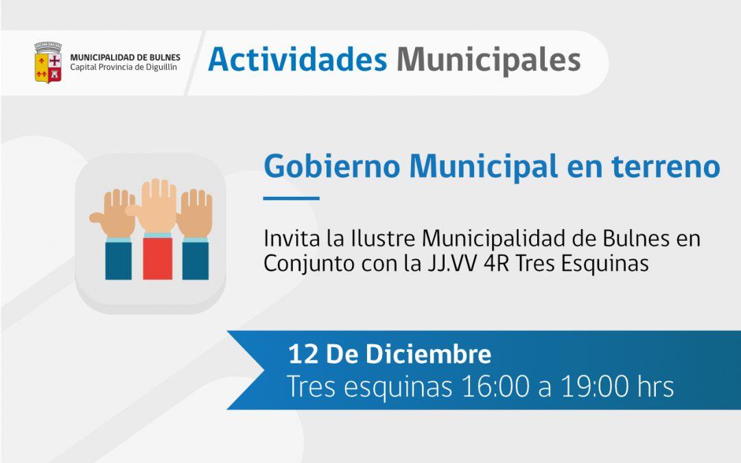 La municipalidad de Bulnes se traslada hasta el sector de Tres Esquinas