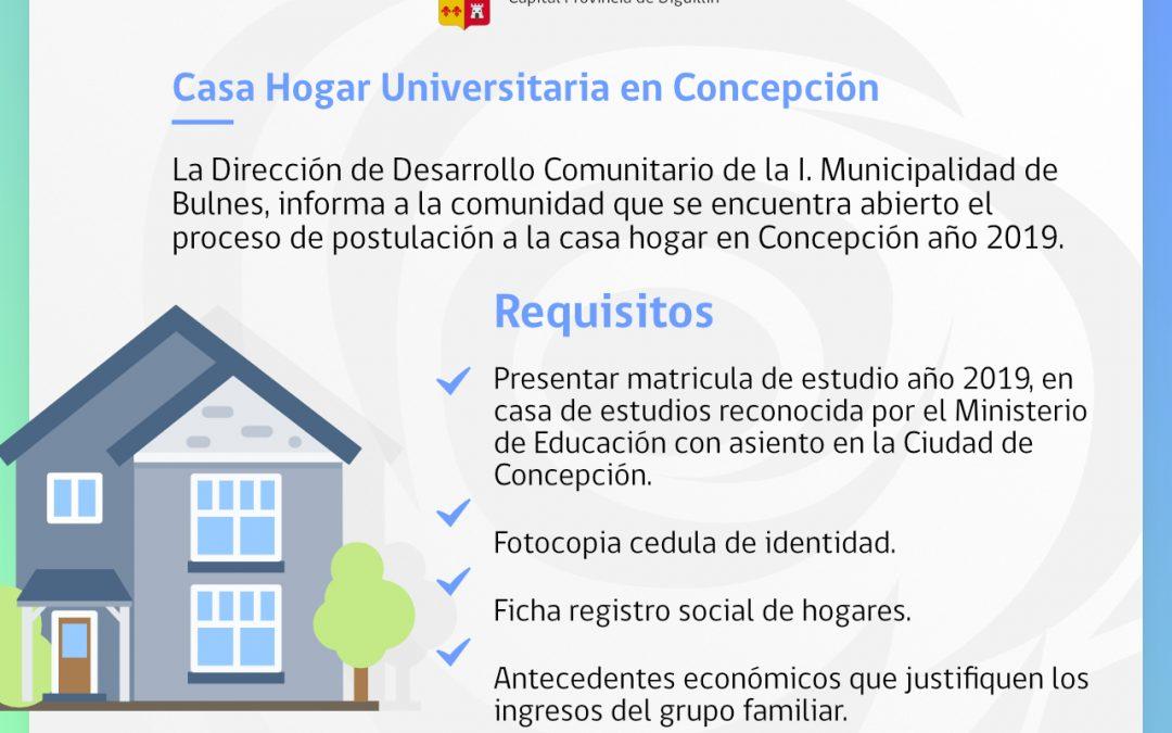 Casa hogar Universitaria en Concepción