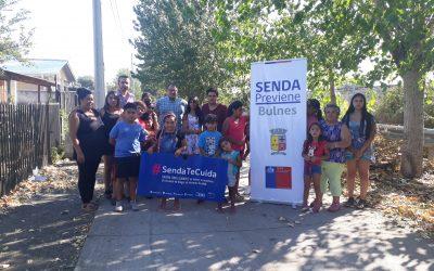 Niñas y Niños de la Junta de Vecinos Población Bernardo O`Higgins se suman al desarrollo de actividades educativas preventivas por parte de SENDA Previene Bulnes