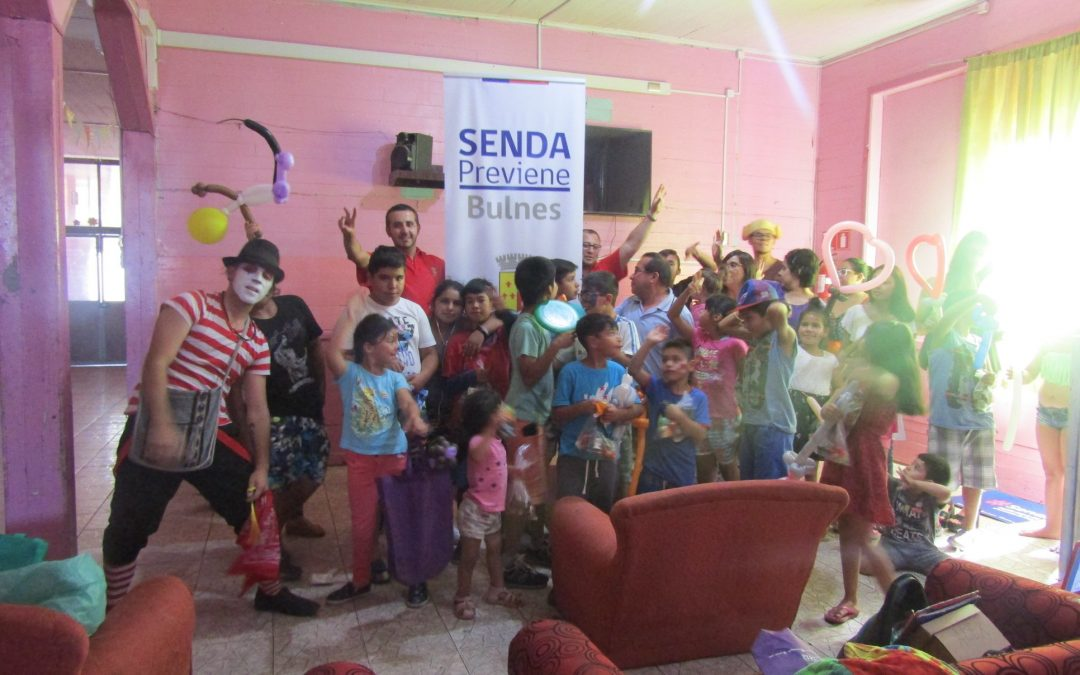 Con actividad recreativa preventiva, los Niños del Sector Villa Padre Hurtado se sensibilizaron en torno a la Campaña de Verano que promueve SENDA Previene.