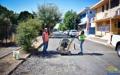 Avanzan faenas para mejorar la red vial urbana y rural en Bulnes