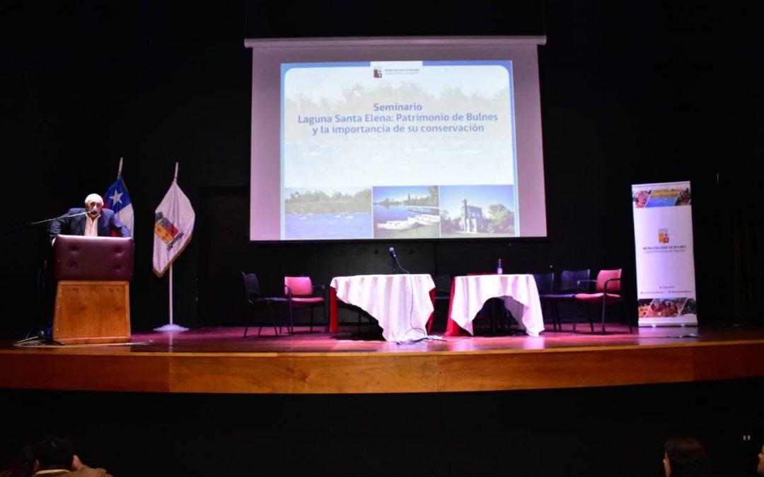 Científicos de la UdeC y la Ubb debaten sobre preservación de la Laguna Santa Elena de Bulnes.