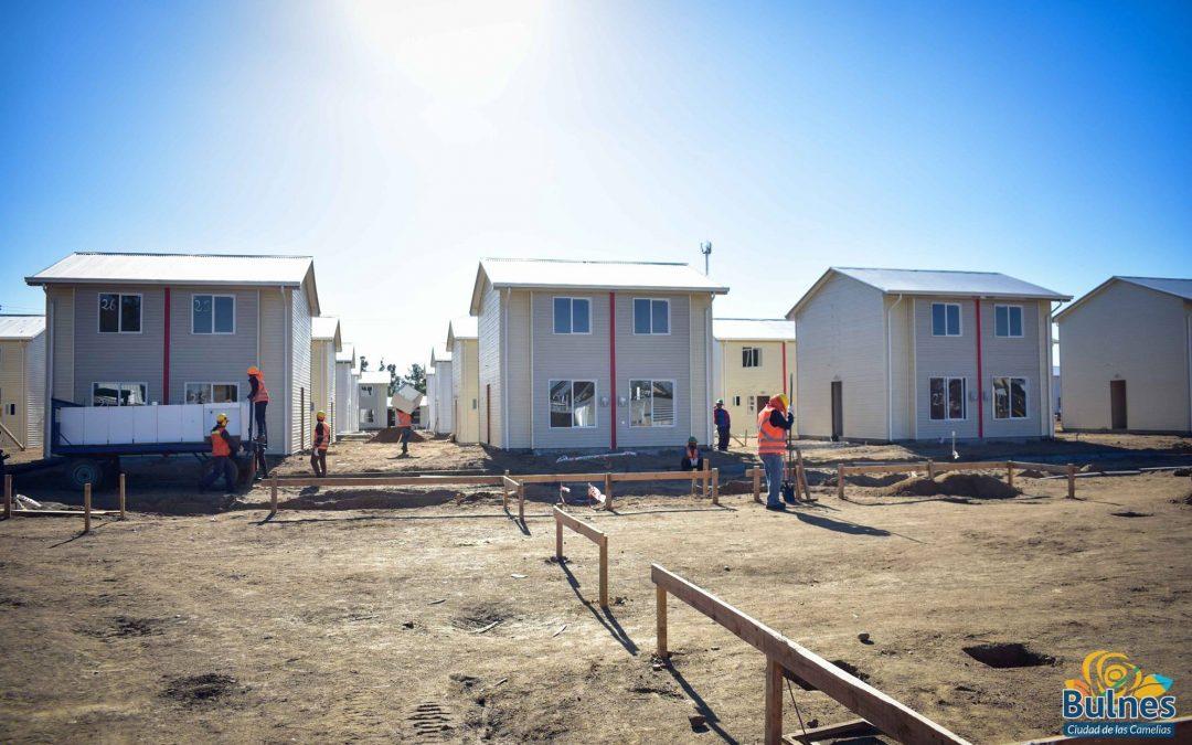 Importantes avances registra construcción de mega villas en Bulnes