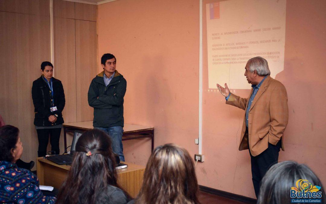 Municipio asesora para postular a los Fondos Presidente de la República