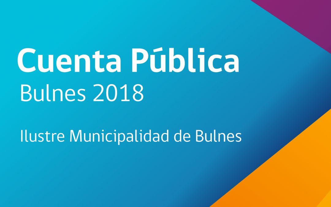 Cuenta Pública Bulnes 2018