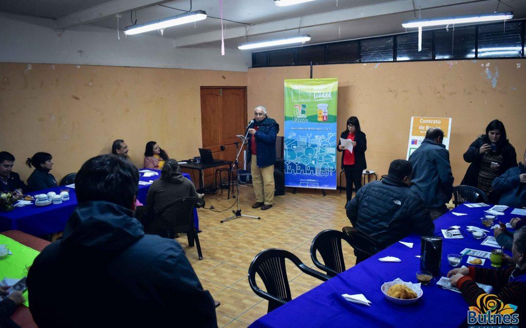 Vecinos de Bulnes firmaron contrato barrial en el marco del Plan Quiero mi Barrio