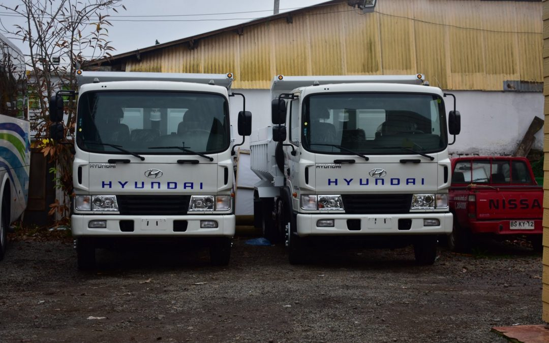 Llegan modernos camiones para mejorar caminos de la capital de Diguillín