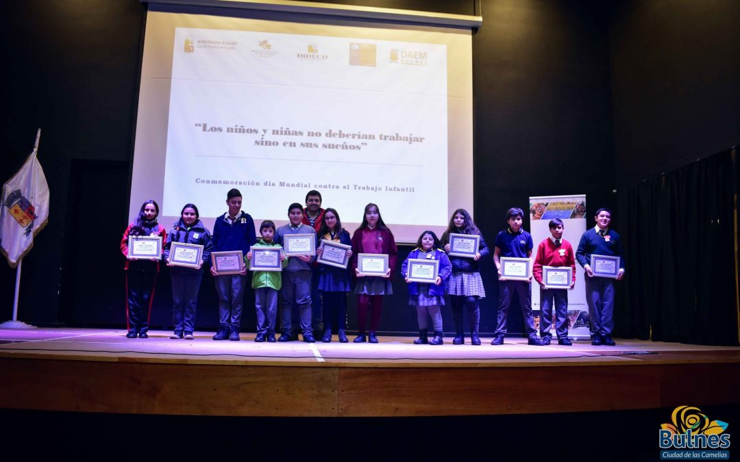 """Premiación del concurso audiovisual """"los niños y niñas no deberían trabajar sino en sus sueños"""""""
