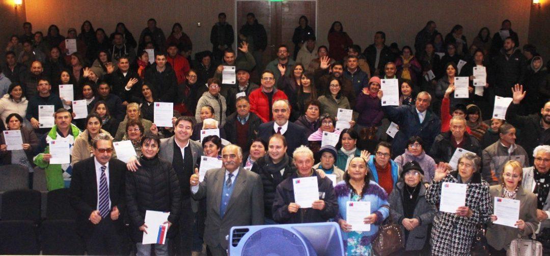 66 Familias de Bulnes obtienen certificados que acreditan obtención de sus subsidios habitacionales