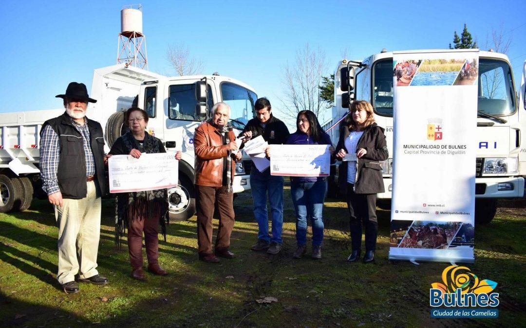El viernes se realizó ceremonia de entrega de nuevos vehículos municipales en sede junta de vecinos Los Estanques, Rinconada de Coltón