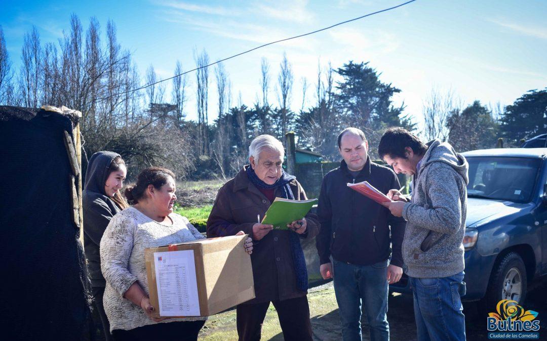 Intensa actividad de entrega de ayuda para afectados por temporales y el crudo invierno