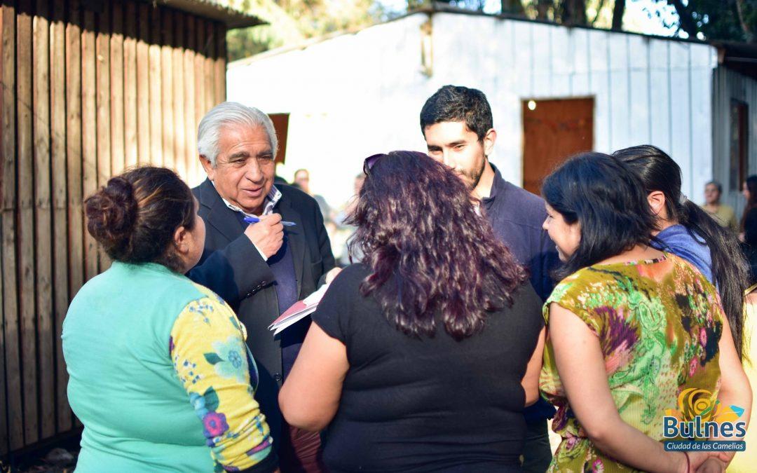 Municipalidad de Bulnes trabaja en el cierre de dos campamentos