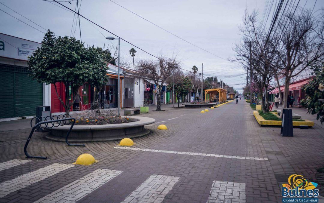 Continúa proceso para remodelar el Paseo Peatonal de Bulnes