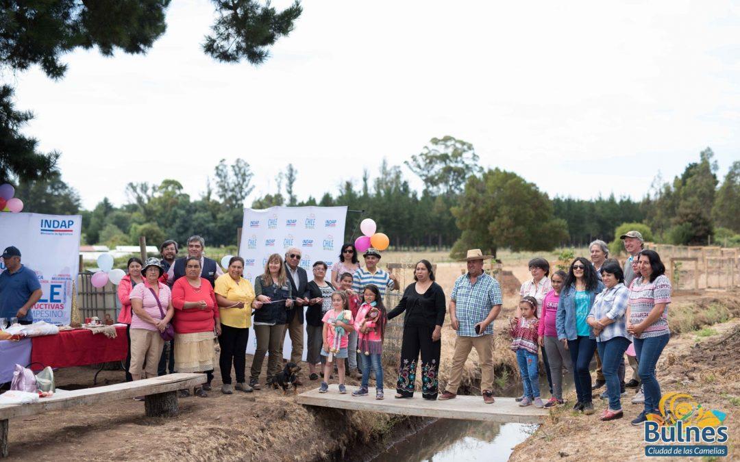 Municipio e Indap aseguran riego para sector rural de El Faro con aguas del Laja Diguillín