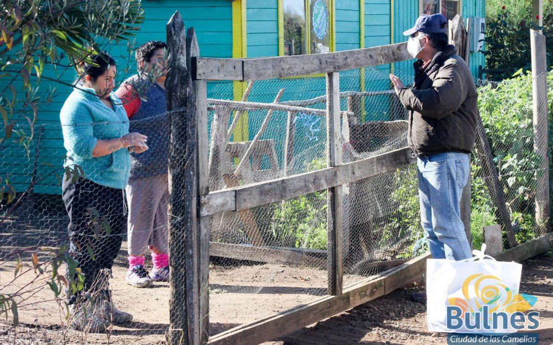 Vecinos de El Caracol agradecen canastas familiares de la municipalidad de Bulnes