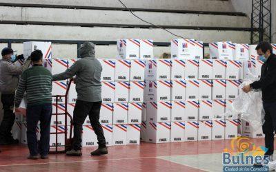 880 cajas de Alimentos para Chile llegan a la comuna de Bulnes