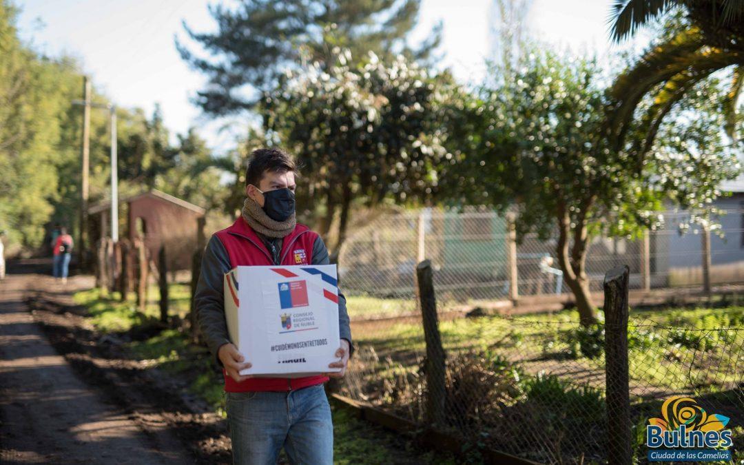 Sectores rurales de Bulnes reciben alimentos por parte de equipos municipales