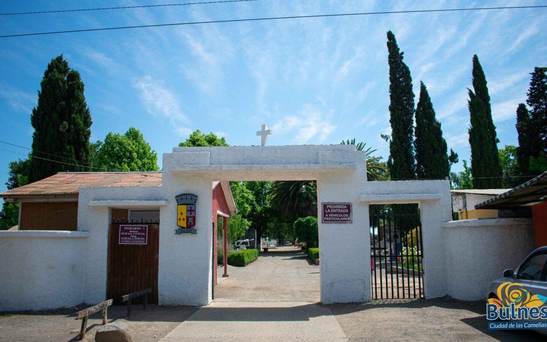 Municipalidad de Bulnes licitó reconstrucción de fachada del cementerio