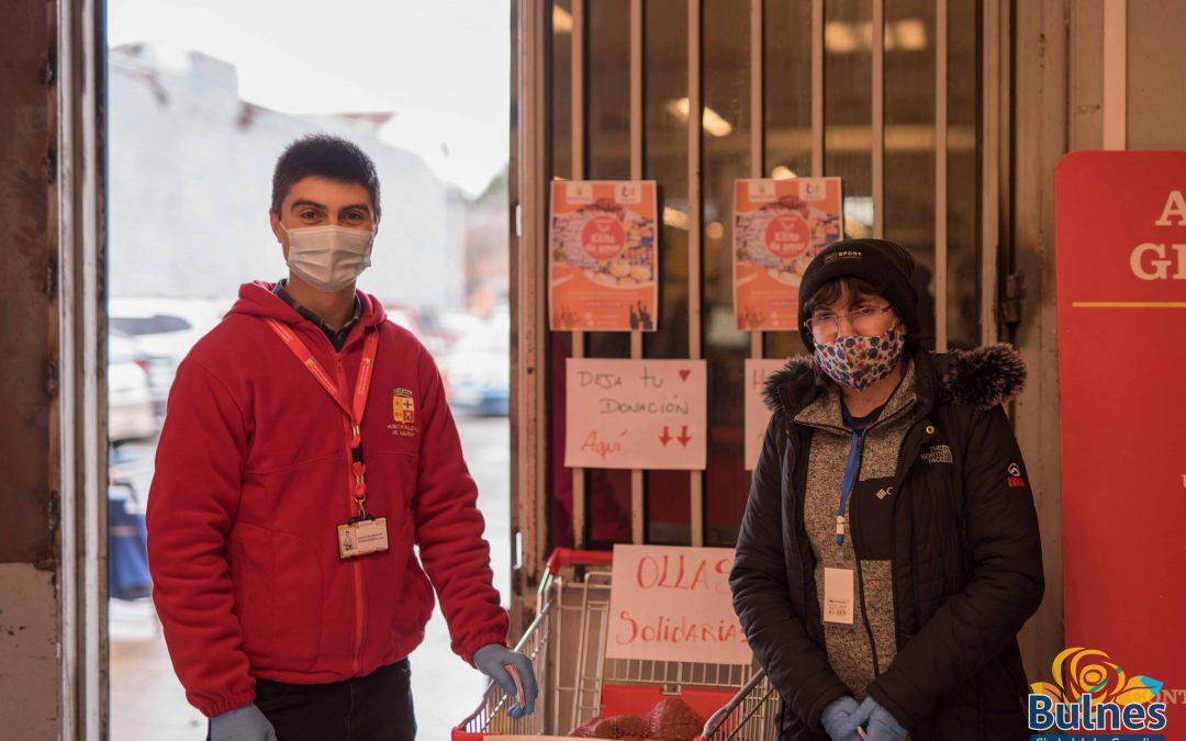 Jóvenes de Bulnes logran obtener alimentos para ollas solidarias