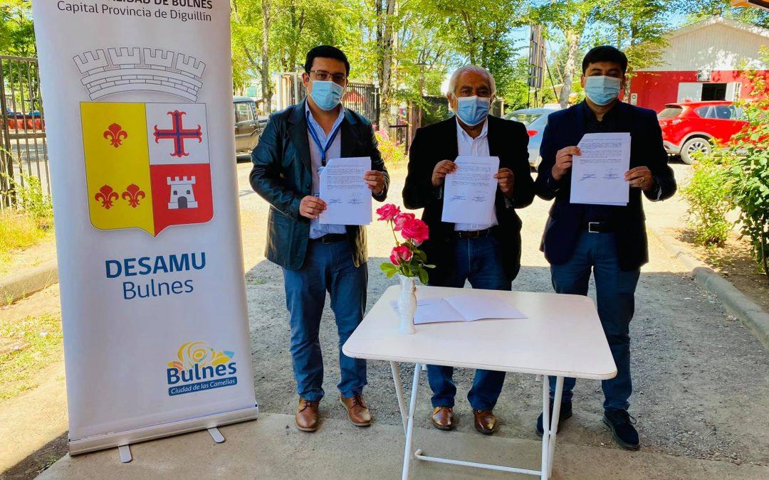 MUNICIPIO DE BULNES, FIRMA CONVENIO CON EL HOSPITAL DE LA COMUNA, PARA LA TOMA DE 205 EXÁMENES A LA SEMANA