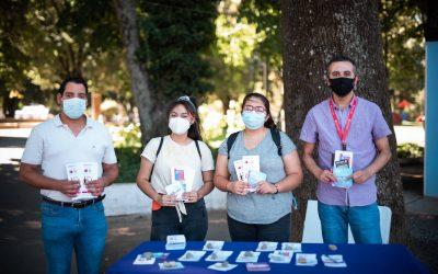 SENDA Previene y Oficina Municipal de la Juventud realizan operativo de difusión preventiva en plaza de armas